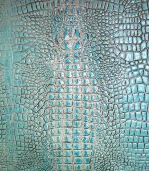 Turquoise Gator Print